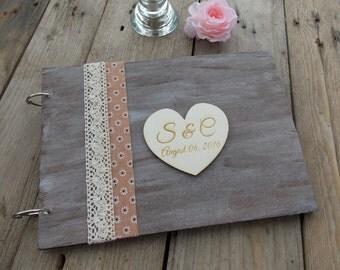 Wedding guest book love - wedding/wedding album/guestbook/wedding accessory