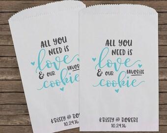 cookie wedding favor bags cookie bags wedding favors personalized wedding favor bags