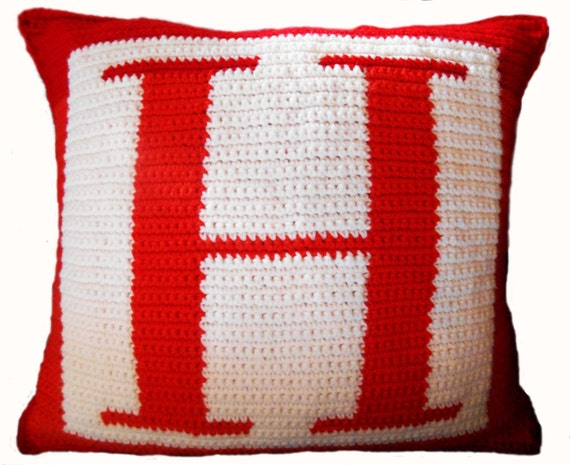 Free Crochet Letter Pillow Pattern : Crochet Pattern Letter H Crochet Pillow