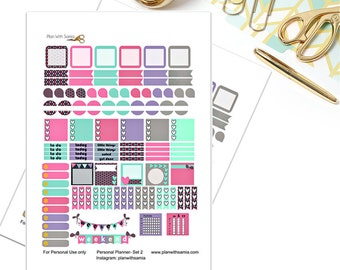 Personal Planner Printable Stickers - Set 2