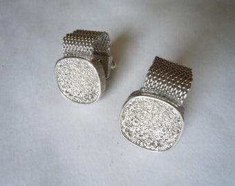 1960s Silver Cuff Links