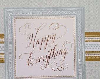 Birthday pop up greeting card
