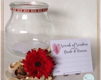 Words of Wisdom for the bride & groom (set of 30)