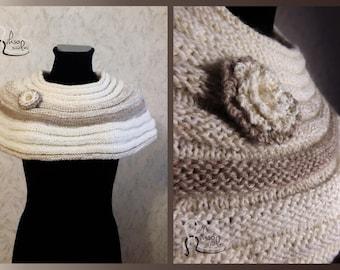 Cream/ Brown Fashion Shoulder Topper