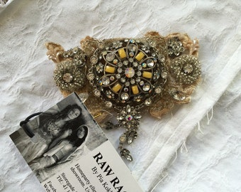 Jewelry brooch ,unique Christmas gifts,  detachable by magnets, dress up , beaded , rhinestone ,handmade jewelry , gift for her
