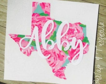 Texas with Personalized Name Decal | Texas Decal