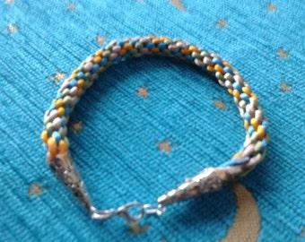 Multi Coloured Braided Bracelet