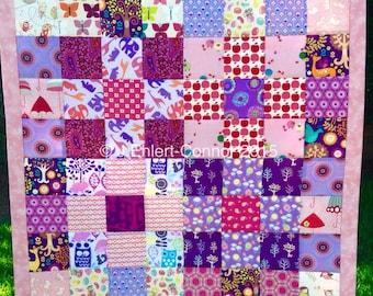 Handmade Purple Pop Patchwork Quilt
