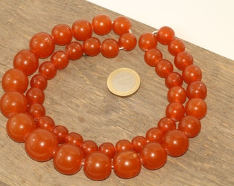 Vintage Heated Baltic Amber Beads Necklace 89.31 gr. 琥珀項鍊
