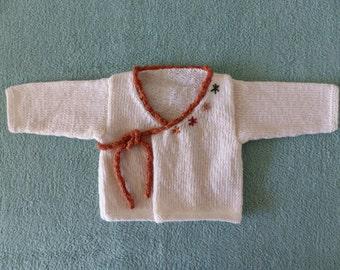 Baby wrap cardigan, free shipping.