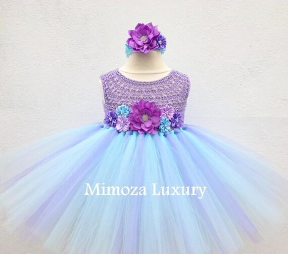 Flowergirl dress, tutu dress,bridesmaid dress, princess dress, silk crochet top tulle dress, hand knit silk top tutu dress