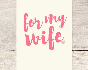 For My Wife | Mother's Day | Wife birthday greeting card