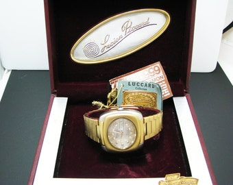 New/ Old Stock 1970's Lucian Piccard Automatic Watch In Original Box with Tags