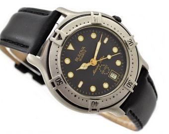 Vintage Bulova Marine Star Mens Quartz Watch 1044 - Make Me An Offer!