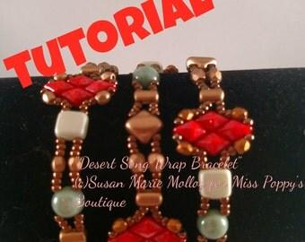 TUTORIAL: Desert Song Beaded Wrap Beaded Bracelet Pattern