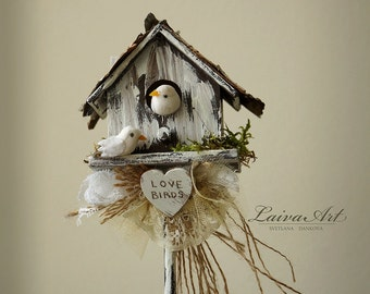 Wedding Centerpiece Love Birds Rustic Wedding Centerpiece Wedding Reception Decor Wedding Table Décor
