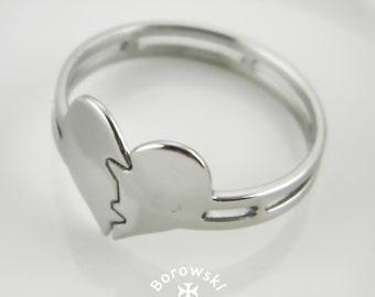 FREE SHIPPING Broken Heart ring