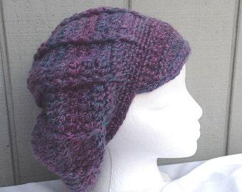 Alpaca blend newsboy hat - Womens newsboy cap - Crochet slouchy hat - Teens newsboy cap - Teens accessories