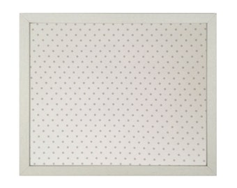 Polka Dots Fabric Magnetic Board / Strong Magnets Included / Bulletin Board