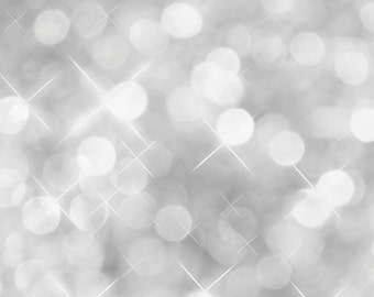 6x6 Silver Bokeh Photography Backdrop For Portraits, Studio Shoots, Themed Parties, & Photo Booths - 6x6 Fab Vinyl (FV0002)