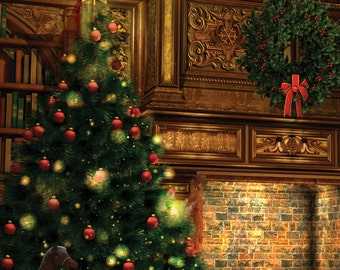 Christmas Photography Backdrop - Photo Background Is Perfect For Holiday Christmas Photoshoots (FD9011)