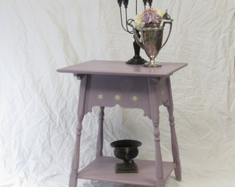 Hand Painted and Stenciled Side Table