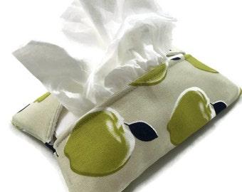 Travel Tissue Holder Kleenex Pouch in apple