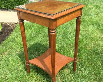 Plant Stand, Side Table, Walnut side Table