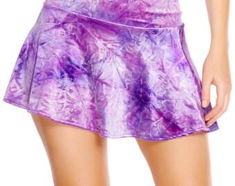 Velvet Sparkle High Waisted Skirt - Violet