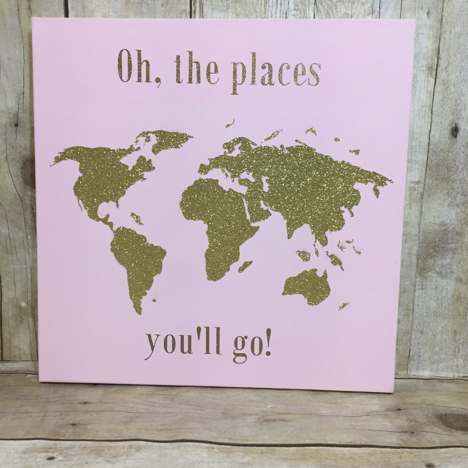 Oh The Places You Ll Go Canvas Nursery Sign Wall Art