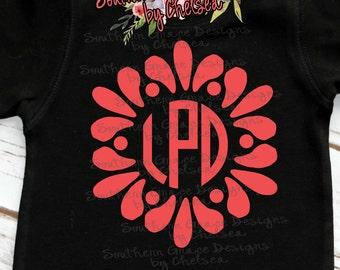 Flower Petal Monogram Child's Shirt