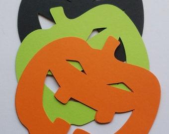 Jack O Lantern Pumpkin Scrap Booking Halloween Decoration Die Cut Outs