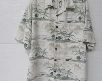 John Severson Kahala Hawaiian Islands Shirt Size Large Hawaii