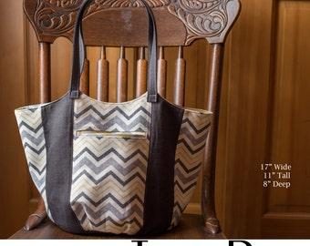 Anna Tote Bag  Bucket Purse PDF Sewing Pattern
