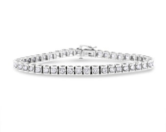 3.50 CT Elegant Natural Diamond Tennis Bracelet in Solid 14k White Gold