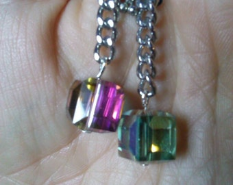Rainbow and chains earrings