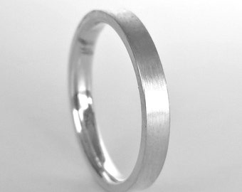 mens platinum wedding band modern square mens platinum wedding ring unisex wedding band - Mens Platinum Wedding Ring