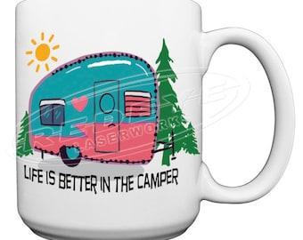 Camping 15 oz. Coffee Mug