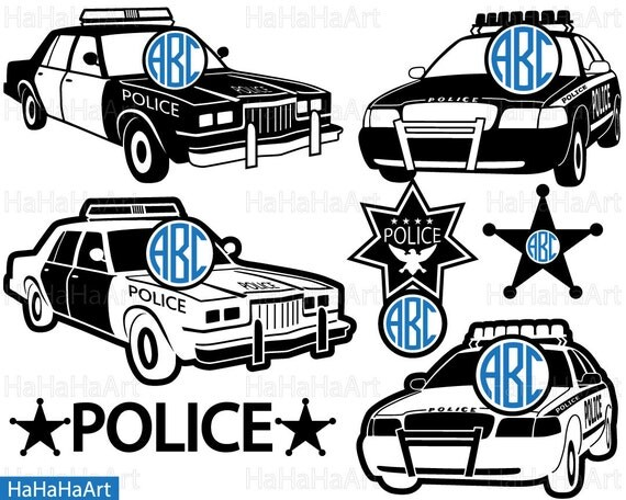 Circle Us Police Car Clipart Cutting Files Svg Pdf Png Jpg Eps