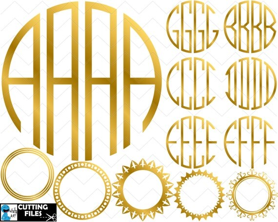 letter circle monogram by craftylittlenodes gold circle monogram alphabet 4 letters clipart cutting 4