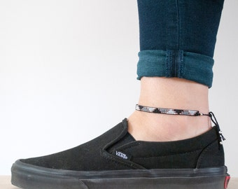 Woven anklet - beads