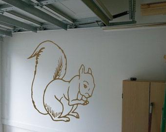 Squirrel Wall Decal - ani (591)