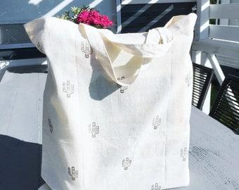 Canvas bag, cactus, shopping bag
