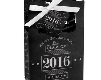 12 Graduation Cheers Favor Boxes - Personalized Graduation Party Supplies
