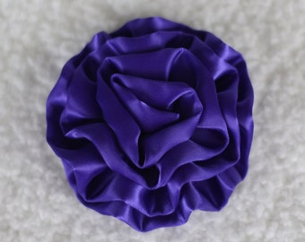 "3"" Cabbage Rose Flower Heads, Wholesale Cabbage Flower Heads for Headbands, Lot of 1, 2, 5 or 10, Purple"