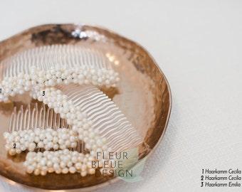 bridal haircomb | pearl hair comb | bridal hair comb pearl | bridal hair accessory | ivory freshwater pearl | hair jewelry wedding