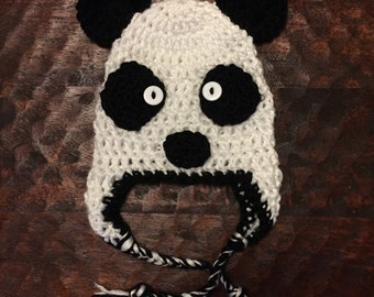 Little Panda Hat - crochet newborn baby child adult