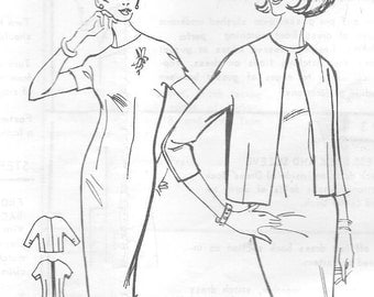 "Vintage 1970s Mail Order Sewing Pattern 3463 - Misses' Dress and Jacket size 16 bust 36"" Uncut"