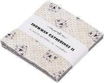"Snowman Gatherings II  5"" Charm Pack, designed Primitive Gatherings for Moda Fabrics"