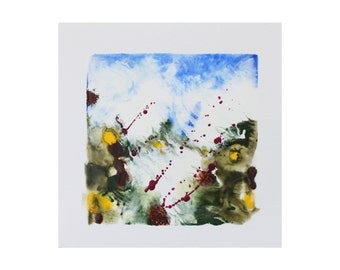 "encaustic art - encaustic painting - ""Windy Hill"" - Muskoka landscape - original painting - housewarming gift"
